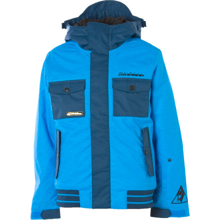 Snowboard The O'Neill Boys' Seb Toots Insulated Jacket makes sure you stay warm as you soar off the lip in the pipe. Or as you ride the slowest chairlift ever (in all of the world's known history) to get to the park. - $52.48