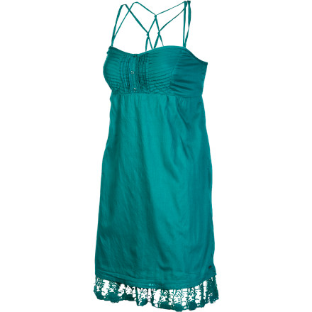Entertainment The O'Neill Women's Bryant Dress knows how to work it without being over-the-top. Its flowy fabric gives you a flirty look, while the Bryant's intricate lace bottom hem and front placket details provide you with an air of elegance. - $23.67