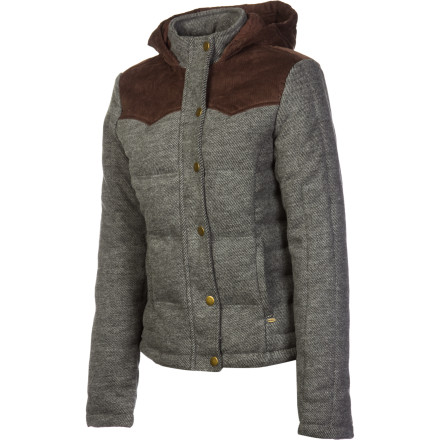 Surf The O'Neill Women's Butterfly Kiss Jacket is soft and cozy, but the earthy fabrics add a subtle hint of ruggedness. This jacket is for the girl who loves her creature comforts but is perfectly at home around the campfire or exploring in the woods. - $62.62