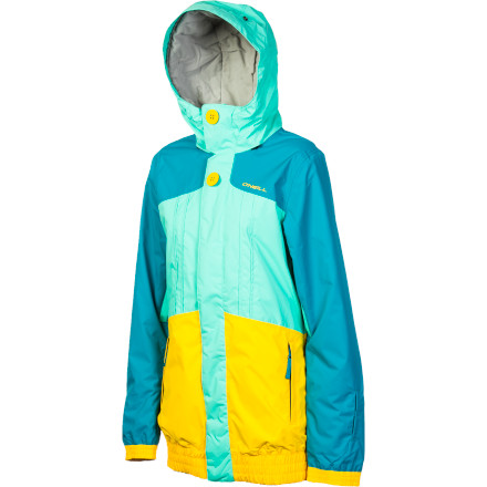 Snowboard The O'Neill Women's Escape Nobility Jacket mashes up urban style and solid winter protection to keep you warm and looking good whether you're making a few laps on your snowboard or walking across campus in the cold. - $94.98