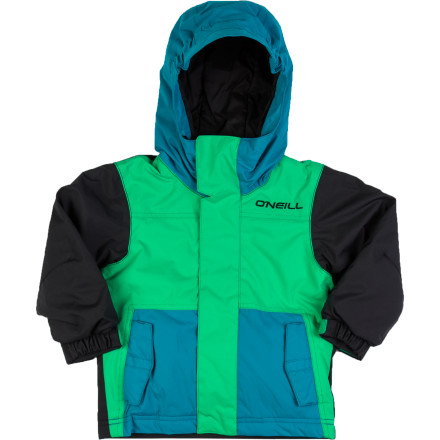 Snowboard The O'Neill Little Boys' Kelvin Insulated Jacket brings technology and styling inspired by the grown-up's jackets along with youth-specific features such as O'Neill's Grow System and Junior Basic Hood. Now he can stay out in the yard all afternoon, coming in only when a growling stomach forces him to. - $34.98