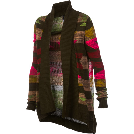 Surf After a long day riding, curl up in your favorite chair and relax in the O'Neill Cozy Up Women's Sweater. This loose open-style cardigan will help keep you warm when you're lounging around on chilly evenings. - $44.51