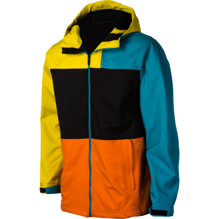 Surf When your puffy is too much, but you're tired of your hoodie getting soaked every time you ride in it, grab the O'Neill Edge HyperFleece Softshell Jacket. The two-way stretch HyperFleece material gives you all the mobility and breathability of your cotton hoodie in a water- and wind-resistant form that will keep you comfortable park lap after park lap. - $69.97