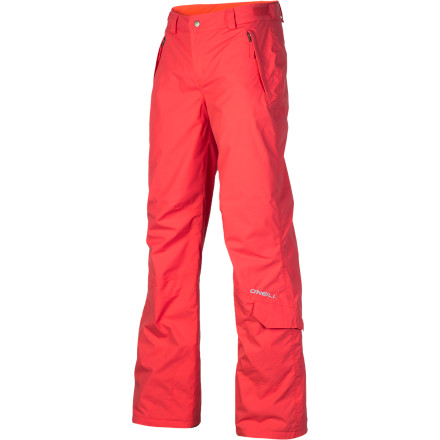 Snowboard Head back to the snow in style and say hello to warmth and irresistible style with the O'Neill Girls' Jewel pant. The regular fit wears with a part-relaxed, part-articulated style for both comfort and mobility, while the Jewel's Firewall insulation helps you to burn brightly all season despite blustery wind. - $39.98