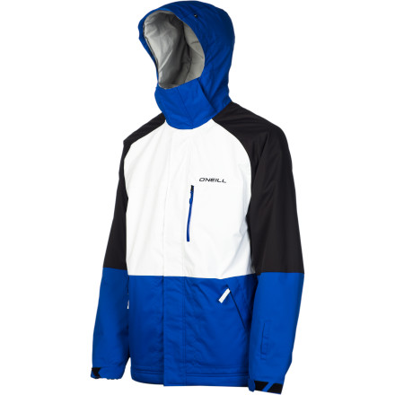 Snowboard When you get tired of big, bulky jackets with way too many big, bulky pockets, give the O'Neill Escape District Jacket a look. The District is heavy on insulation to keep you warm when winter really gets cranked up, but it has a clean, streamlined look without all that extra cargo-this-and-that. - $66.48