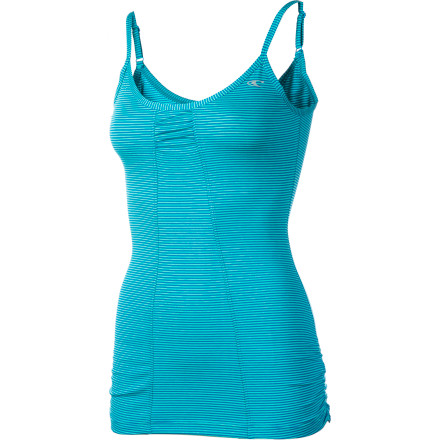 Fitness The O'Neill Women's Divine Tank Top grabs your attention at first glance. This fitted, flattering top wears well alone or beneath your sheer top when you don't want to show off the color of your bra. Dri-Release jersey fabric keeps you cool and comfortable when a hot guy greets you and asks for your digits. - $34.16