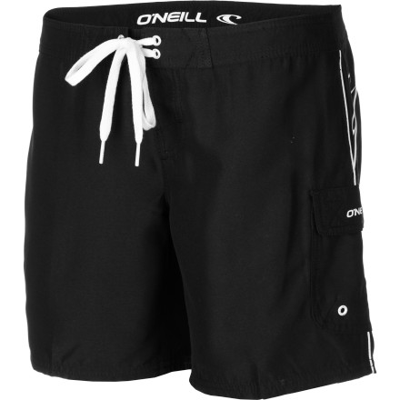 Surf Don the O'Neill Women's Atlantic Board Short and hit up the water park without the fear of losing your bikini bottoms in the wave pool. - $33.95
