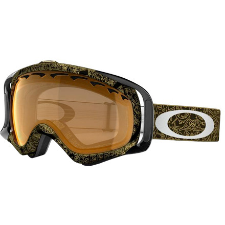 Snowboard Strap on the Oakley Crowbar Goggle and get prepared for any action the mountain throws your way. Oakley's lightweight impact-resistant O Matter frame and dual-layer anti-fog Plutonite lenses give you the goods to go anywhere on the mountain and see clearly through any kind of weather you encounter there. Oakley gave the Crowbar Goggle pressure-distributing frame struts that improve fit and comfort while you rocket or jib down the mountain. Add triple-layer face foam with moisture-wicking fleece, and a silicone strap-retention strip, and you feel like you've just strapped on the last goggle you'll ever need. - $60.50