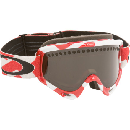 Ski Keep your vision clear and your peepers safe from blinding snow with the Oakley O Frame Goggle. Lexan lens protects your eyeballs from the harmful UV rays, and the Os vented dual lens with F-2 Series treatment helps prevent the dreaded goggle fog when having an epic powder day. - $44.00