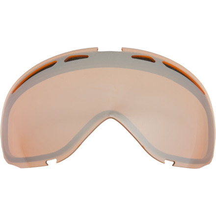 Snowboard Replace your scratched Oakley Elevate Goggle Lens with the original Plutonite lens to get your old gogs working like new. Plutonite offers zero-distortion, a high level of clarity, 100% UV and unsurpassed impact protection. - $45.00