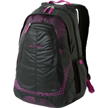 Camp and Hike Navigating the halls of your school is a total drag if you're carrying all of your books, pens, papers, and whatnot by hand and constantly doing the fidgety gagngle dance to prevent the mess from from falling to the ground. Organize the chaos when you pack the day's gear into your Oakley Women's Base Load Backpack. This pack features 25L of space to house your wares and also comes with a handy-dandy 15-inch laptop sleeve that's sure to keep your 'puter as snug as a bug in a rug. - $31.50