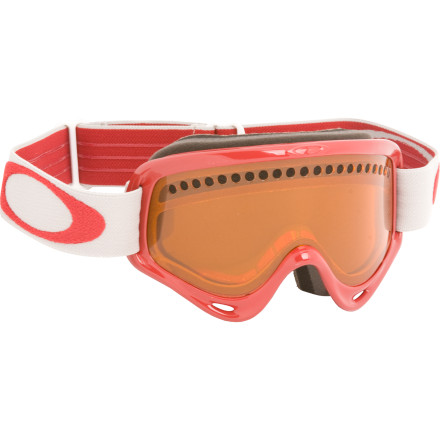 Ski Get the protection and clarity youve come to expect from Oakley in a small-face design with the Oakley Kids XS O Frame Goggles. Built with kids in mind, but ideal for anyone with a small melon, these goggles feature a flexible Urethane frame and a dual-vented Lexan lens with Oakleys F2 anti-fog treatment. The XS O Frame stays comfortable from the first chair to the setting sun thanks to double-layer face foam, and the textured interior helps reduce glare. - $49.00