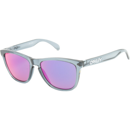 Entertainment Way back in the '80s when pink spandex was king, people scrambled to find a pair of Oakley Frogskin Sunglasses. And whether you choose to go for the Shaun White sigs or for a polished pro, the Frogskins will block those harmful UV rays as you stroll down the street with a ghetto-blaster on your shoulder. - $90.00