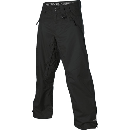 Snowboard Your sandwich-bags-taped-over-khakis snowpant idea last season was definitely unique, but you have to admit that your legs weren't exactly comfortable. The Oakley Shelf Life Pant will help keep the wet out and you won't end up losing pieces of it all over the park. - $84.00