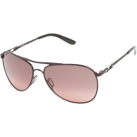 Entertainment Whether laying out on the beach or hiking through the desert, the sun will always remain your best friend when you wear the aviator-style Oakley Women's Daisy Chain Sunglasses. The sunshine keeps you sane and this shade's metal frame and UV-blocking lenses keep your eyes happy while augmenting your summery wardrobe. - $170.00