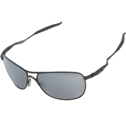 Entertainment Long road trips make summer the greatest time of year, especially when you can see your bright, wild future through the Oakley Crosshair Sunglasses. Metal frame and UV-blocking lenses feature a large curvature to shade your peripherals during sunset drives down the coast. - $140.00