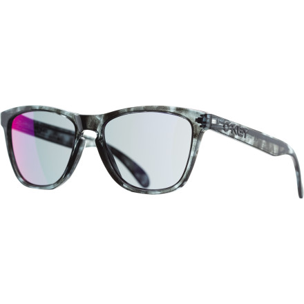 Entertainment Oakley's legendary Frogskin sunglasses are back with a super-sick, limited-edition Acid Tortoise burnout frame design. You should probably stop reading this and just click 'buy', because they might be sold out by the time you finish. - $90.00