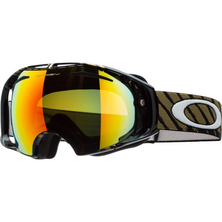 Ski The light can change pretty quickly when you're training on a secret halfpipe above the tree line, that's why Shaun White developed his new (for 2011) Oakley Shaun White Signature Goggle with an easily interchangeable lens design. As he rides back up on a sled, his gloved hands pivot the SwitchLock Technology to pop out the lens and then lock down another lens that better fits the changing conditions. You can do the same with an included extra lens, so you can always have that undistorted, UV-blocking, and glare-busting Oakley vision that you need to shred like Shaun (or at least attempt it). - $138.00