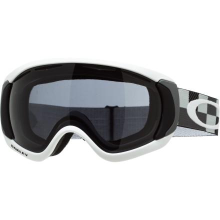Ski Oakley's brand-spanking-new model for winter 2012-13, the Canopy Goggle, is the first oversized goggle produced by Oakley so you can enjoy the same solid style with even more vertical and peripheral vision as you throw down on the mountain. With the same vented dual lens and XYZ Optics you depend on for going big in the park, this gog gives you the biggest field of vision yet and even lets you wear your eyeglasses underneath its big, flexible frame. - $78.00