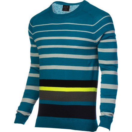 Large, vibrant stripes give the Men's Unique Time Sweater a unique look that your grandma won't mistake for her favorite tablecloth and your buddies won't harass you for because you look like an extra from a holiday movie. - $42.00