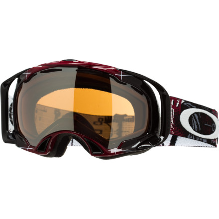 Entertainment From buttery pillow lines to summer park sessions, the Oakley Eero Ettala Signature Aperture Splice Goggle provides the breathable, fog-free vision needed to throw down once the jump gets built. Sponsored riders, aspiring amateurs, or lazy park-lappers can all dig the O-Flow Arch's venting, flexy frame, and Eero-approved graphics. - $71.50