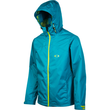 Snowboard The Oakley Motility Lite Jacket is a toned-down version of the Motility Jacket that has all the style of the original at a lower price. Critically placed fleece replaces Thinsulate insulation and the waterproof rating drops to 5K, but the Lite retains important features like a fixed powder skirt, underarm zip vents, and a fixed hood. - $140.00