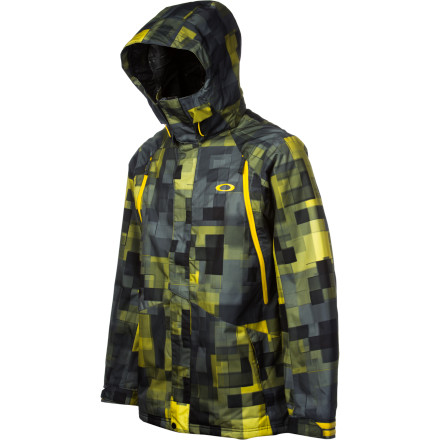 The Oakley Originate Lite jacket brings tanner Hall style to the masses in a more financially-approachable design. The Lite is packing a 10K waterproof breathable shell, front vents, and a fixed hood and powder skirt for total protection. - $154.00