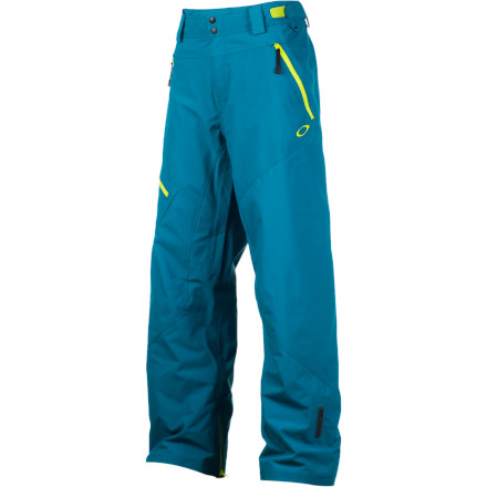Snowboard Get out and shred in the worst weather you can find in the Oakley Great Ascent Pant. A Gore-Tex membrane keeps you dry and comfortable with no clamminess and strategically placed fleece panels eliminate cold spots. 2-way wrap crotch vents allow you to dump heat in a hurry so you don't bonk on the hike, and the RECCO avalanche safety system adds a measure of safety to any backcountry tour. - $245.00