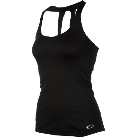 Camp and Hike As you hike up a steep embankment, you're super glad you put on the Oakley Women's Shine Support Tank Top before you hit the trail. Its flowy fit and back drape give you plenty of room to move and offer exceptional breathability when you start to work up a sweat. - $39.20
