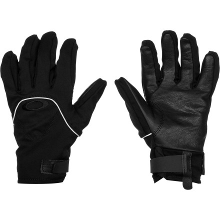 Snowboard A good backcountry glove needs to do more than just keep your hand dry. It needs to let your hand regulate its own temperature naturally so you stay dry and comfortable during intense aerobic activity. The Oakley Touring Glove lives up to its name with a Gore-Tex waterproof breathable membrane, a tough leather palm, and a softshell chassis that lets your hand breathe to stay comfortable naturally. - $48.75