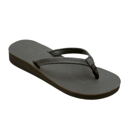 Surf The Ocean Minded Women's Del Mar Sandalleather construction, a slim silhouette, a rounded outline, a slender strap, and a bit of height Damn, these flip-flops are hot. If the smooth leather and wedge profile don't win you over, the recycled EVA outsole will. You see, even Ocean Minded's most fashion-forward pieces have an eco-soul. - $18.67