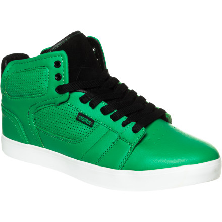 Skateboard The Osiris Effect Skate Shoe's lightly padded mid-top construction gives your ankles a little extra protection, while the low-pro vulc sole offers board feel and style to spare. - $35.72