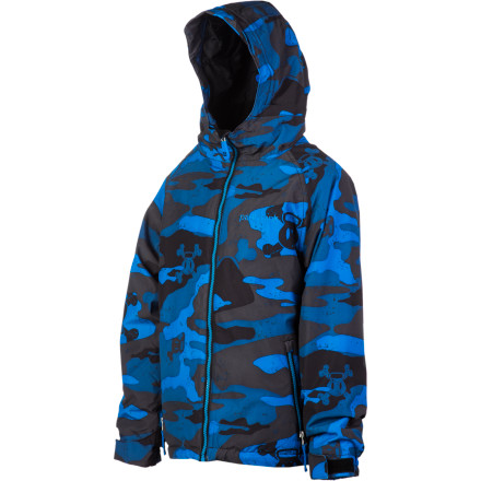 Snowboard Good luck finding your kid when he's wearing the Paul Frank Boys' Skurvy Camo Insulated Jacket, not because of the whole camo thing (although it does look pretty awesome). You won't see him because he'll take this jacket and his snowboard, and he'll disappear until the lifts stop running. - $51.98