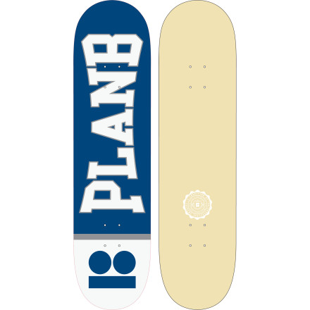 Skateboard Plan B's Team Decks feature solid 7-ply construction and clean, basic graphics. If you feel weird skating with somebody else's name on your board, you can't go wrong with this onechoose your favorite size and get buck. - $46.76