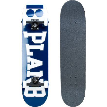 Skateboard The Plan B Team Complete Skateboard comes pre-gripped, pre-assembled, and ready to thrash. Quality components get the job done whether you're still learning to ollie, or you're trying to re-up your bag of tricks after some time off. - $89.96