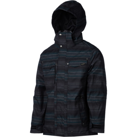 Snowboard The Planet Earth Faded flannel Jacket has the technical features and performance of a high-end snowboard jacket with the casual look and feel of your favorite flannel. 10K waterproofing protects you from the snow while the Polyfill synthetic insulation locks in the heat. - $188.96