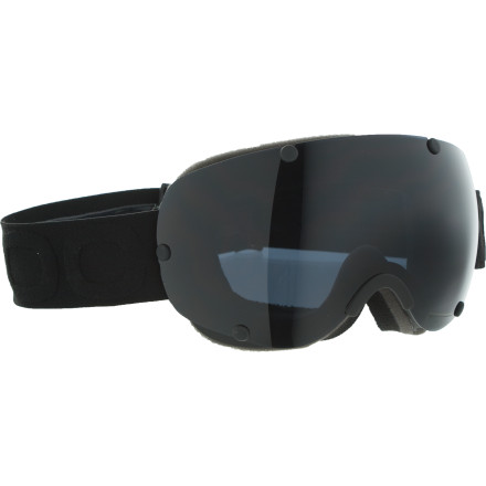 Snowboard It should be no surprise that the POC Lobes Goggles use a cutting-edge spherical lens to eliminate optical distortion. After all, they look like something Doc Brown would wear in the De Lorean. Whether you use the Lobes Goggles for skiing, snowboard, or time travel, the dual polycarbonate and cellulose propionate lens eliminates fogging, even at speeds up to 88 miles per hour. POC designed these goggles to provide excellent peripheral vision, so you can spot the landing when you come around on your 720 and see what's going on outside as soon as you open the gull-wing doors. - $111.97