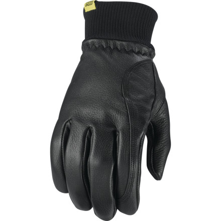 Snowboard Pow kept it simple with the HD Glove; just slip it on and go. This lightweight water-resistant deerskin leather glove with a rib-knit cuff is suitable for milder winter days on the mountain or, of course, anything else you do that requires a little protection and a lot of grip. - $26.97