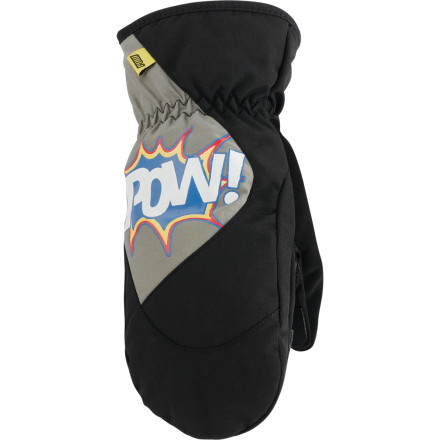 Pow packed the Kids' Grom Mitten with a whopping 200g Thinsulate insulation to keep his hands so warm it won't even occur to him to whine. - $18.00