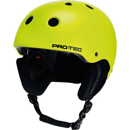 Snowboard Look familiar This is the original skate-style Pro-tec snow certified helmet. the Classic Snow Helmet doesn't have a bunch of fancy bells and whistles because it doesn't need them. Good looks and multiple-impact protection is enough. - $48.97