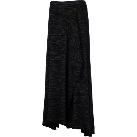Fitness A maxi skirt is a great alternative to pants, with its full coverage and movable freedom; the smooth and stretchy QSW Women's Waterfall Maxi Skirt adds even more movement with a crossover style and high-low hem. More versatile than your average skin-exposing or movement-restrictive skirt, this maxi lets you run, curl up or sit like a yogi, or look elegant at the wine bar. - $48.10