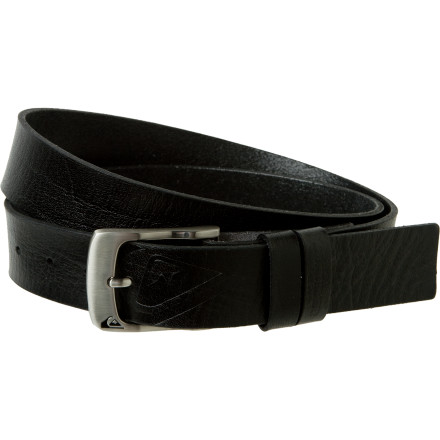 Surf When you need a basic, classic, leather belt, look no further than the Quiksilver Men's Standard Belt. The name makes sense: it's standard-issue, time-tested style. Except it boasts a little embossed Quiksilver logo for an updated touch. - $18.00