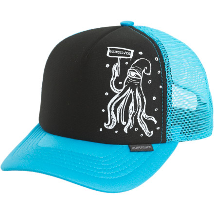 Surf The Quiksilver Stavi Hat-Kids knows that you're not quite old enough to grow your own 'stache, and that's why it comes with a removable, wearable mustache for you to put on when you're trying to get into R-rated movies. - $12.10