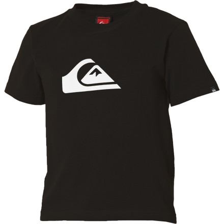 Surf You'll find the Quiksilver Boys' Mountain Wave T-Shirt (and possibly your kid) where the mountains and the waves meet. Don't freak out though, we're not saying he's lost ... actually, he's probably finding himself. - $9.90