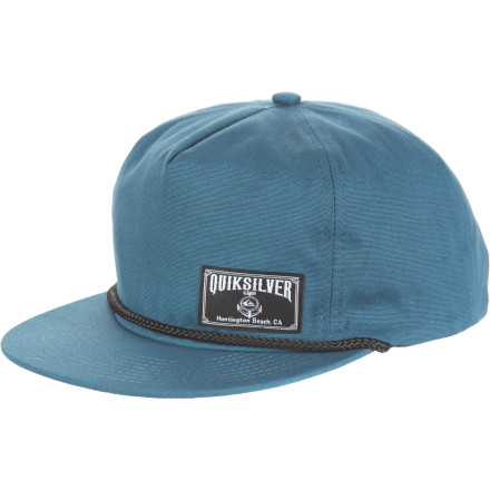 Surf The Quiksilver Cords Hat is made with 21 wale corduroy. It's unstructured and it's snap-back adjustable. - $15.60