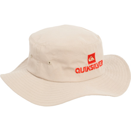 Surf He'll blaze a trail of joyous destruction from his bedroom to the beach; your job is to watch him grow, pick up the mess, and shield him from excessive sun exposure with the Quiksilver Toddler Boys' Trail Blaze Hat. Secure the Blaze to his head by the adjustable cord. - $24.00