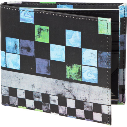 Entertainment Sure, you could walk around with the same old boring black or brown wallet that you used to buy the beige sedan that you drive around with your average wife and 2.4 dull children, but you might as well spice it up a little with the Quiksilver Gambit Wallet. - $15.60