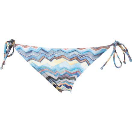 Surf The Quiksilver Zig Zag Classic String Bikini Bottoms give you just enough coverage and sassy side ties to keep you looking sexy whether you're soaking up sun at the beach or lounging at the pool. - $24.00