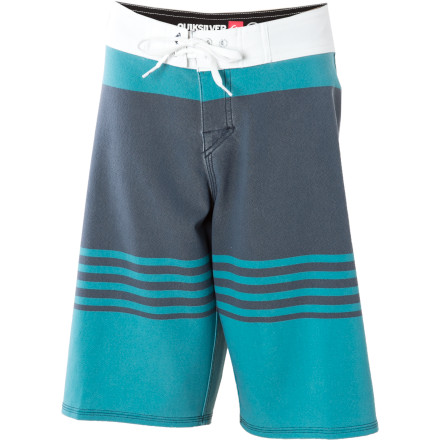 Surf Your retirement plan may require your young surfer to become a world champion, but if he's wearing Dane Reynolds' signature Quiksilver Boys' Cypher Reynolds Revolt Board Short he has a good chance. The quick-drying, four-way stretch polyester fabric encourages comp-winning surf moves while you sit on the beach and think about how natural he looks in this long, striped board short. - $33.00