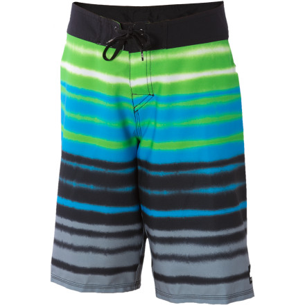 Surf Four-way stretch means that the Quiksilver Boys' Biarritz Dip Board Short won't keep you from dipping low in a barrel or snapping your board back at the lip. These boardies dry quick, give you easy access to the fly so you can do your business on dry land, and the water repellent coating keeps the fabric from turning soggy. Now all you need to do is learn how to surf. - $27.00